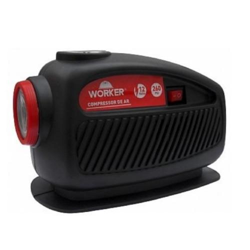 Compressor Lanterna 12v Worker Inflador Botes  - Casafaz