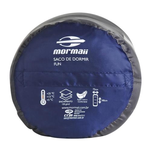 Saco de Dormir Fun  Mormaii Cinza - Azul  - Casafaz