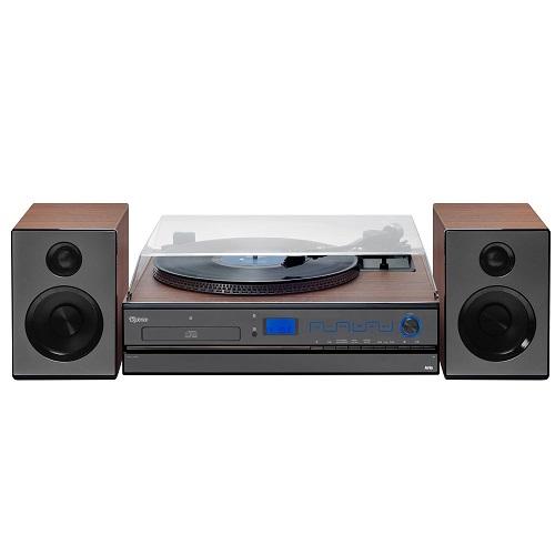 Vitrola Toca Discos Hi-Fi Raveo Aria Com CD, Rádio, FM, USB e SD
