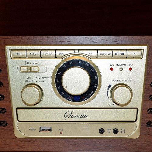 Vitrola Toca Discos CTX Sonata USB Madeira  - Casafaz