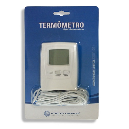 Termômetro Digital Temperatura Max-Min Interno/Externo Cabo 2,30Mts -50 +70:0,1 Refrigeração  - Casafaz