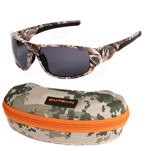 Óculos de Sol Polarizado Camuflado Uv Outsun + Case  - Casafaz