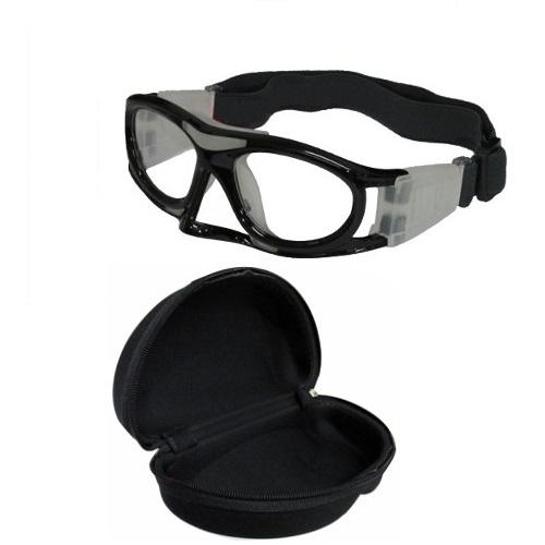 Óculos Eyki De Futebol Basquete Preto Infantil Com Protetor Nasal + Case
