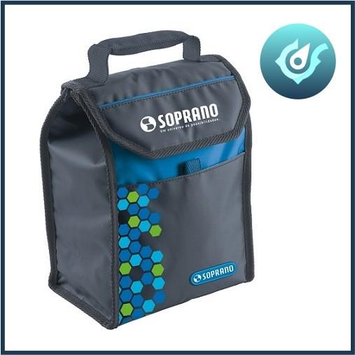 Bolsa Térmica Cooler 4,2 Litros Soprano Camping Viagem Azul