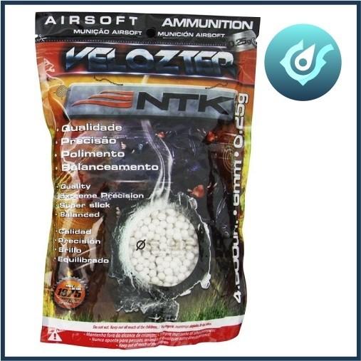Esferas para Airsoft 0,25g 6mm Velozter 4000 Unds Nautika