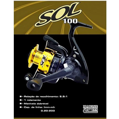 Molinete Sol 100 Marine Sports   - Casafaz