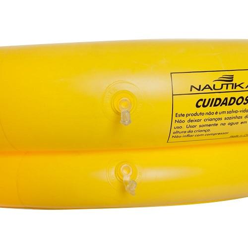 Piscina Banheira 80 Litros Amarela Nautika   - Casafaz