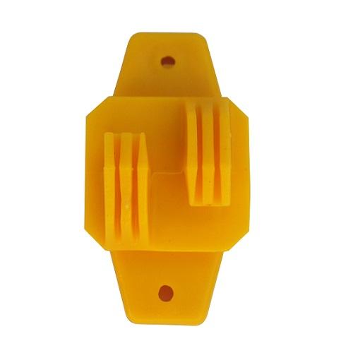 Isolador Cerca Elétrica De Linha W Amarelo Com 100 Unidades