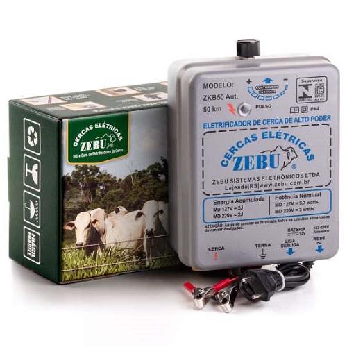 Eletrificador Rural Cerca Eletrica Zebu ZKB50 Aut. Bivolt e 12V
