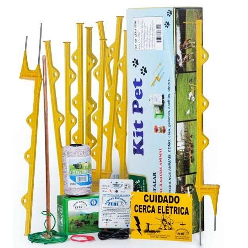 Kit Pet Cerca Elétrica Zebu Para Pequenos Animais 110V