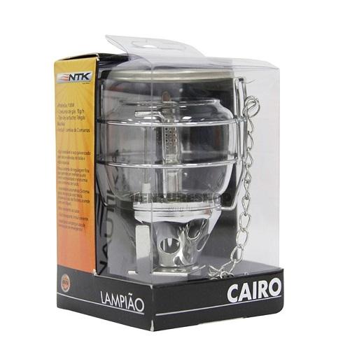 Lampião Cairo + 1 Cartucho De Gás Tekgas Nautika  - Casafaz