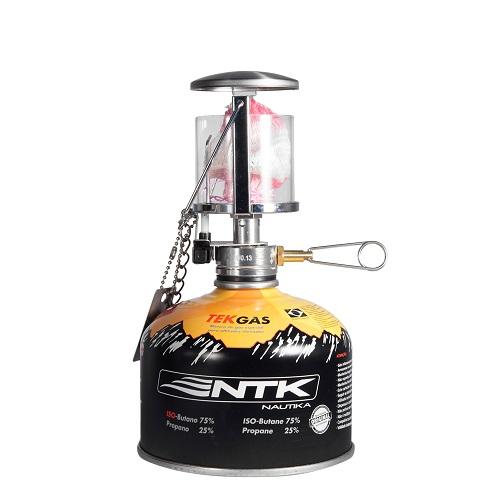 Lampião Brite Azteq + 1 Cartucho De Gás Tekgas Nautika