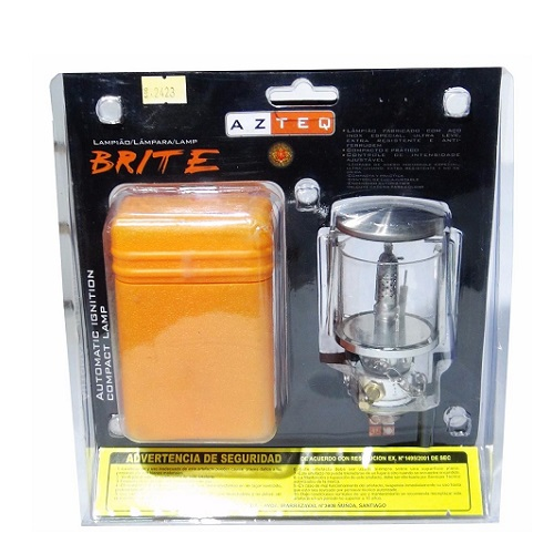 Lampião Brite Azteq + 1 Cartucho De Gás Tekgas Nautika   - Casafaz