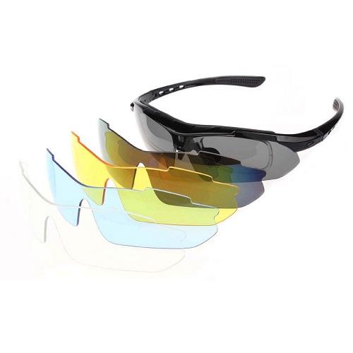 Óculos Ciclismo Esportes Polarizado 5 Lentes + Clip Lente De Grau  - Casafaz