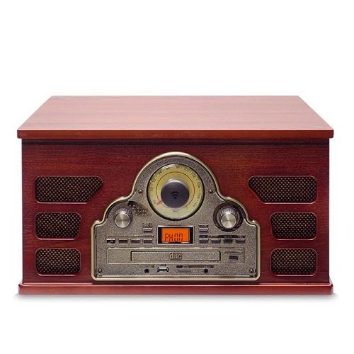 Vitrola Toca Discos Hi-Fi Raveo Tenor Com CD, Rádio, FM, USB, SD e Bluetooth  - Casafaz