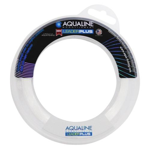 Linha Leader Plus Transparente Aqualine Nautika 30 Lb 0,50mm 60 Metros