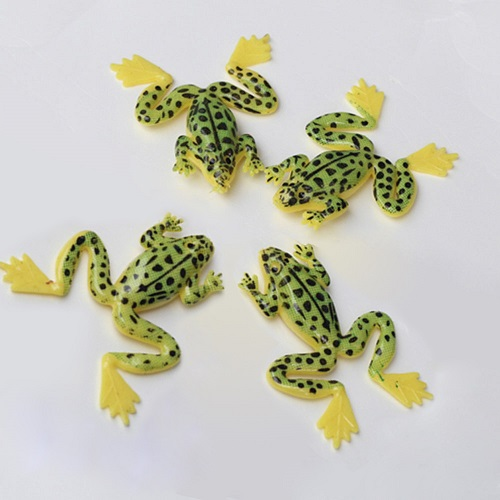 Isca Artificial Arrow frog Kit Com 4 Iscas 4,9g 5,5cm Verde e Amarelo
