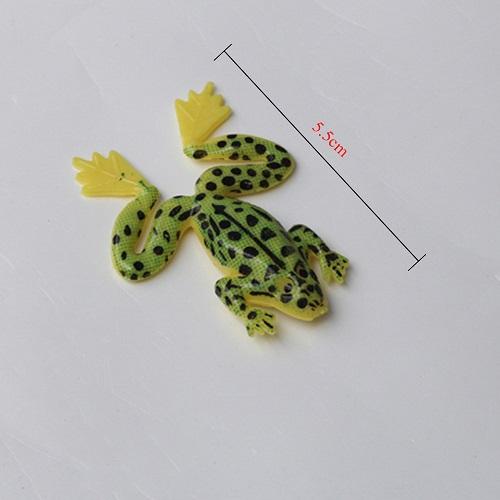 Isca Artificial Arrow frog Kit Com 4 Iscas 4,9g 5,5cm Verde e Amarelo   - Casafaz