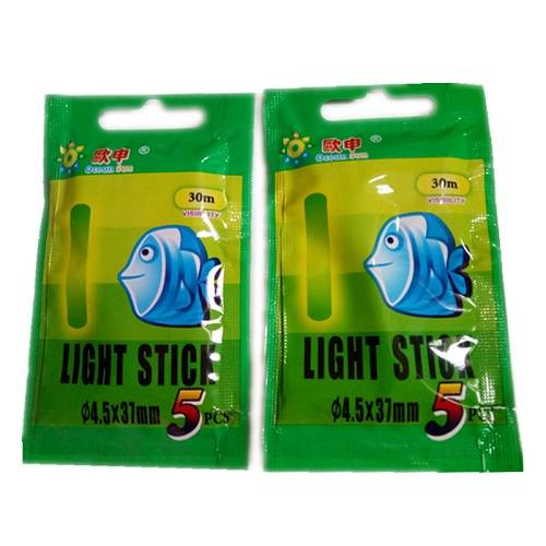 Luz Química Pesca Light Stick 045 X 37mm 10pçs  - Casafaz