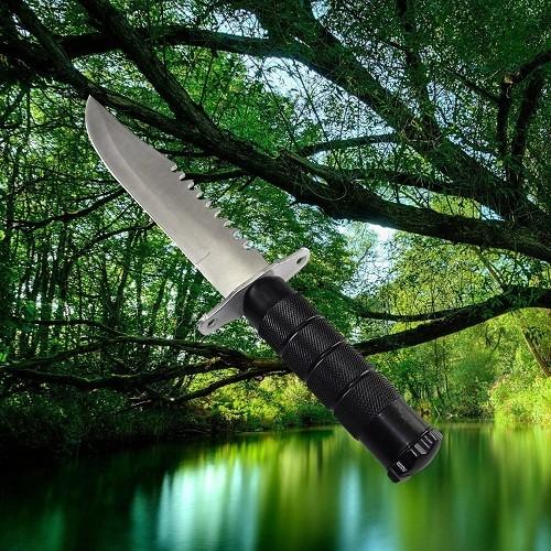 Faca Tática Hunting Knife HK 205 Com Kit Sobrevivência Caça E Pesca   - Casafaz