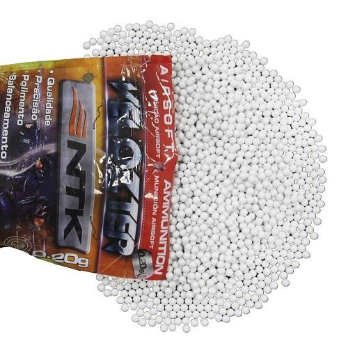 Esferas para Airsoft 0,12g 6mm Velozter 500 Unds Nautika Granel  - Casafaz