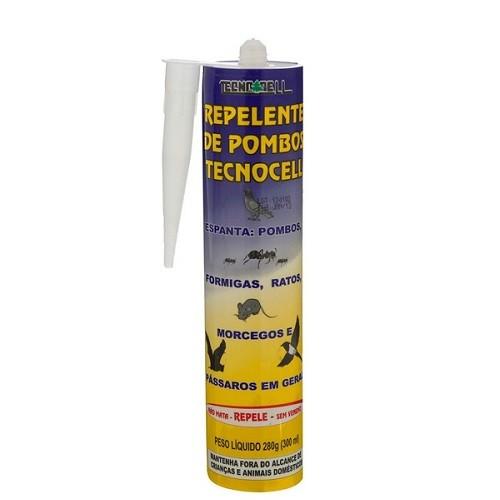 Repelente Pombos Formigas Ratos Morcegos Pássaros Gel 300ml Tecnocell  - Casafaz