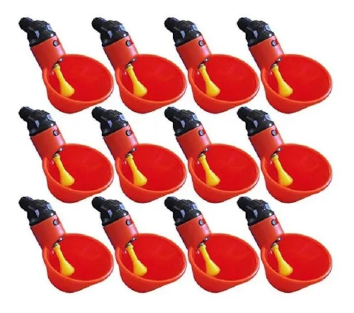 Bebedouro Aves Automático Concha Com Borboleta 10 Unidades