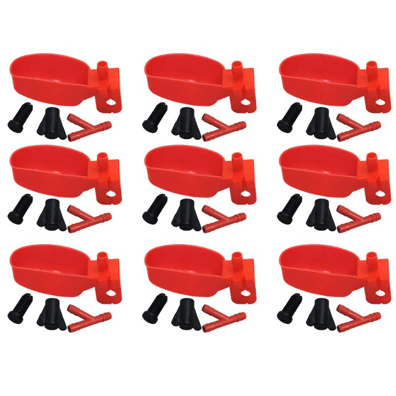 Bebedouro Automático Aves Codorna Frangos Pássaros Concha 10 Unidades