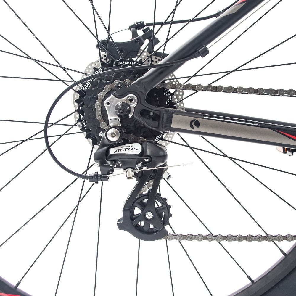 Bicicleta Bike MTB Aro 29 Tsw Hunter S Preto/Vermelha - 2018  - Casafaz