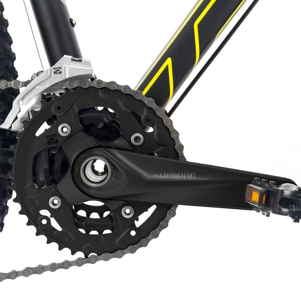 Bicicleta Bike MTB Aro 29 Tsw Jump S Preto/Amarelo- 2018  - Casafaz