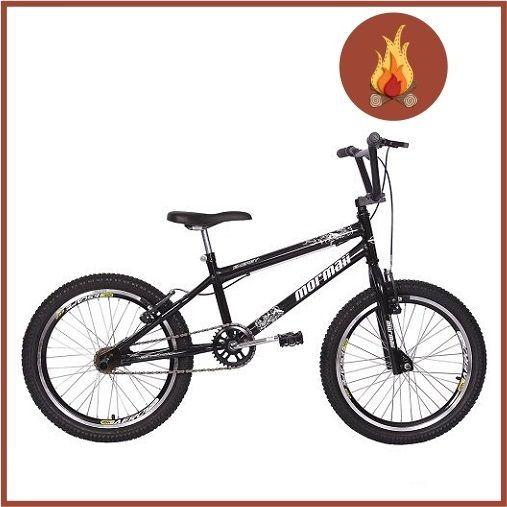 Bicicleta Mormaii Aro 20 Cross Energy Preto Brilhante Com Aro Aero