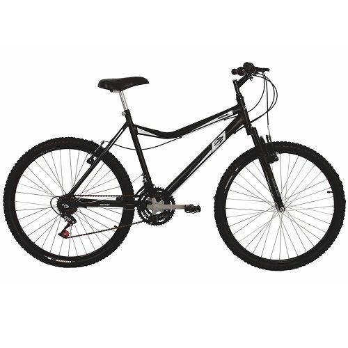 Bicicleta Mormaii Aro 26 Mountain Bike Jaws Suspensão 21V C16 Preto Fosco