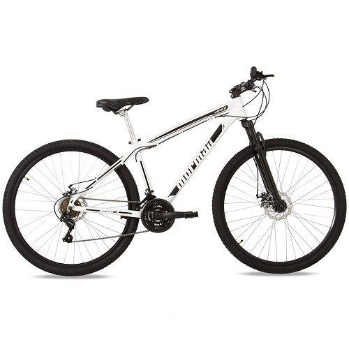 Bicicleta Mormaii Aro 29 Q17 Mountain Bike Venice Disk Brake Suspensão 21V C16 Branca Preta