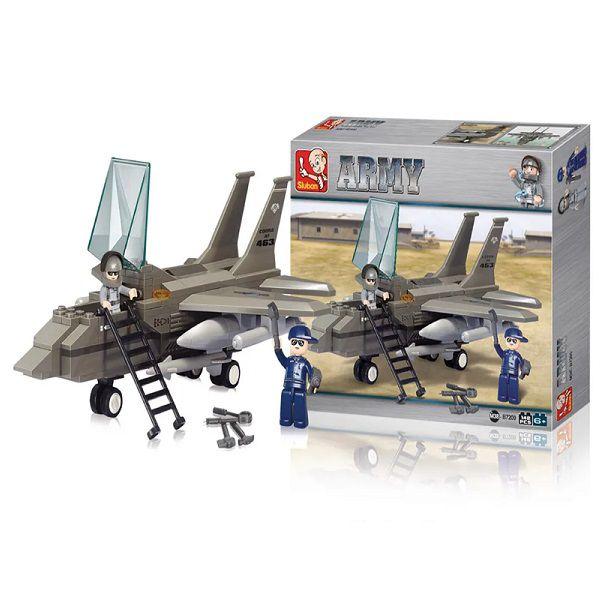Blocos de Montar Air Force Army Jato de Combate 142 Peças Multikids - BR907
