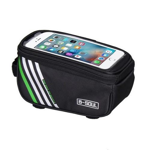 Bolsa Para Quadro Com Porta Celular Para Bike Phone Bag B-Soul