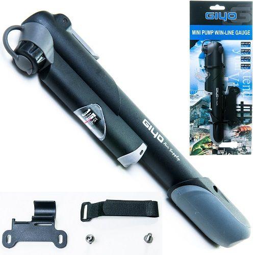 Bomba De Ar Mini Pump GP41 Com Manômetro Giyo  - Casafaz