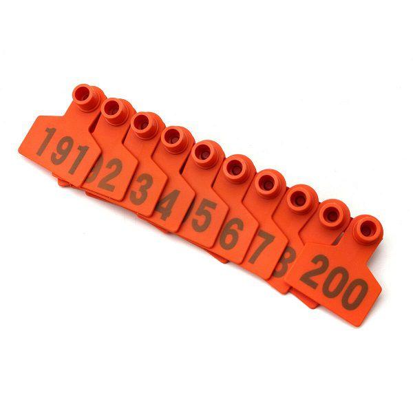 Brinco Para Identificação de Bovinos Suínos Numerado 001 a 100 - 100 Unidades  - Casafaz