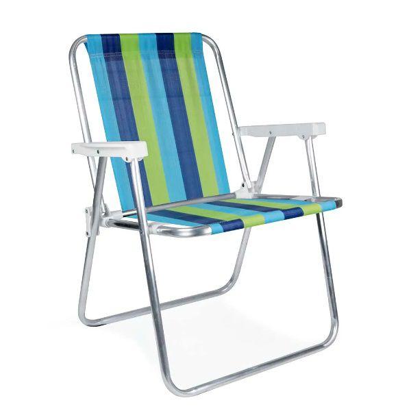 Cadeira Alta Alumínio Praia Mor - 2101
