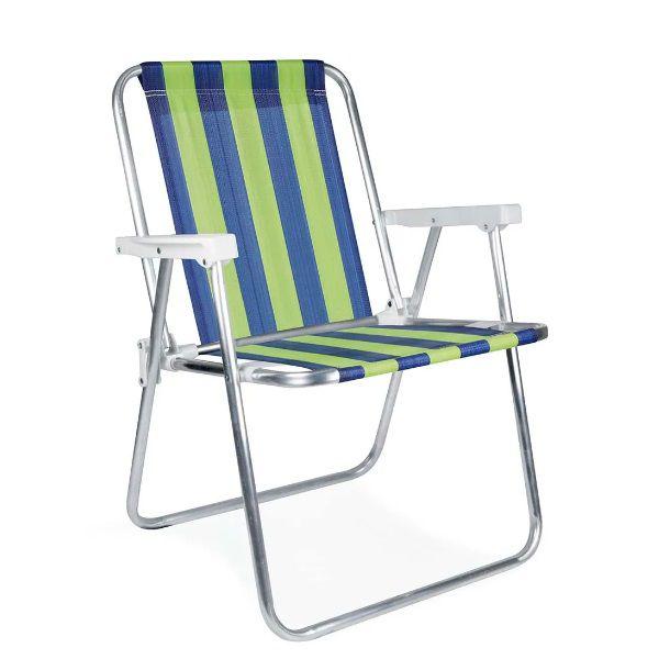 Cadeira Alta Alumínio Praia Mor - 2101  - Casafaz