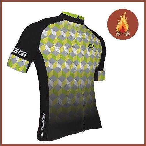 Camisa Ciclismo Oggi Agile Masculina Preto/Cinza/Verde   - Casafaz