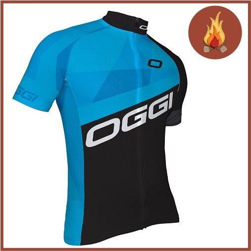 Camisa Ciclismo Oggi Hacker Masculina Preto/Azul   - Casafaz