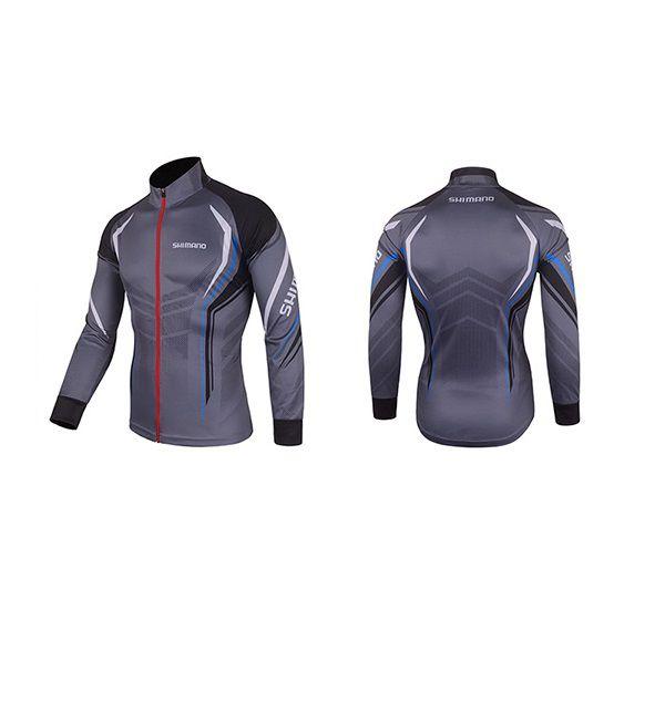 Camisa De Ciclismo Pesca Shimano Proteção UV Cinza  - Casafaz