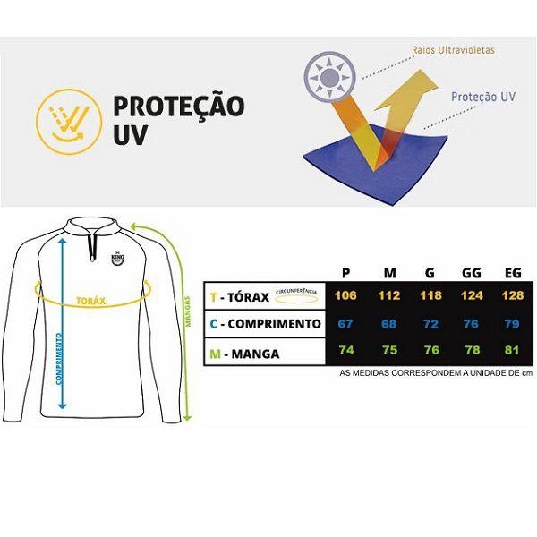 Camisa De Pesca King Brasil KFF60  - Casafaz
