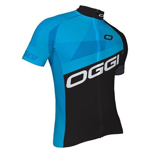 Camisa Ciclismo Oggi Hacker Masculina Preto/Azul Tamanho G