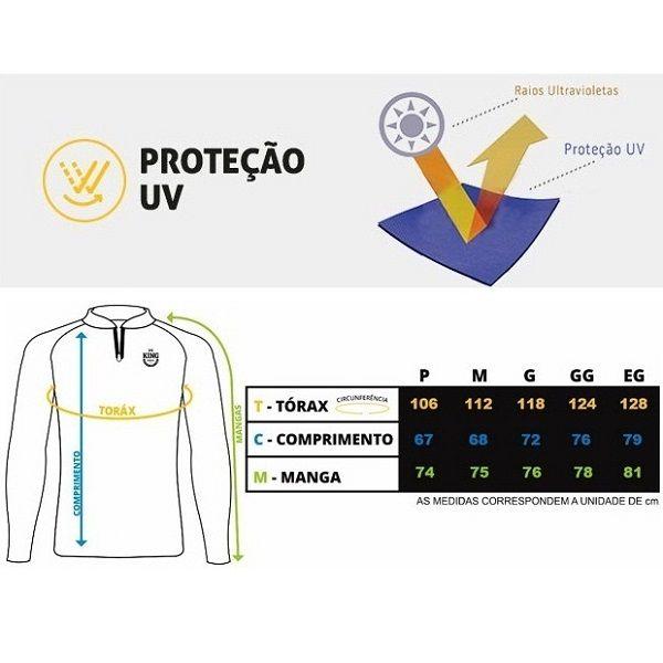 Camisa De Pesca King Brasil KFF201  - Casafaz
