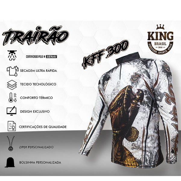 Camisa De Pesca King Brasil KFF300  - Casafaz