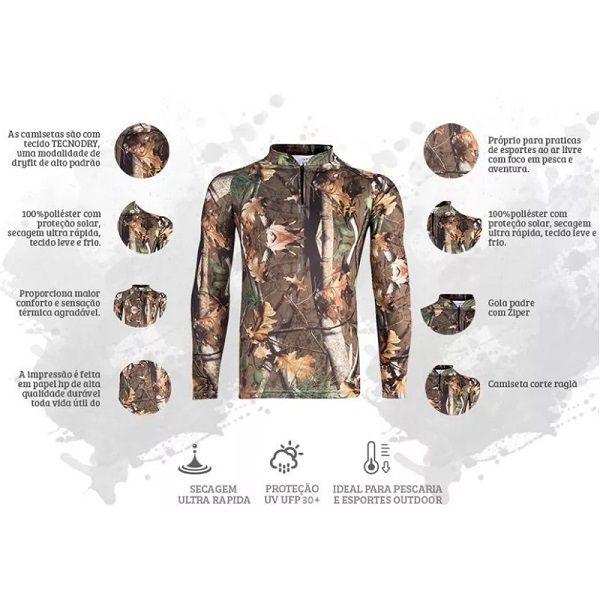 Camisa De Pesca King Brasil KFF69  - Casafaz