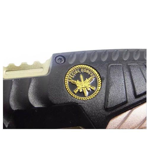 Canivete Tático Mtech Fire Fighter Gold MT-A944 Militar Premium  - Casafaz