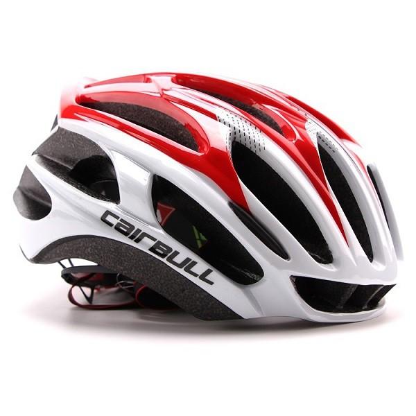 Capacete Ciclismo MTB Bike Mold Cairbull 58-62 Branco/Vermelho