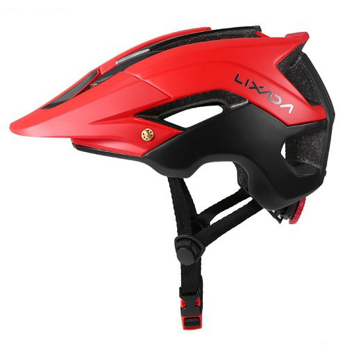 Capacete Ciclismo MTB Bike Mold Lixada Red/Black 56 a 62cm
